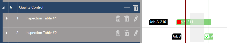 Execute Mode - Operator Note with flag on bar