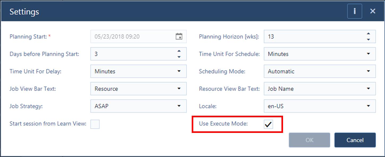 Settings-Execute-Mode