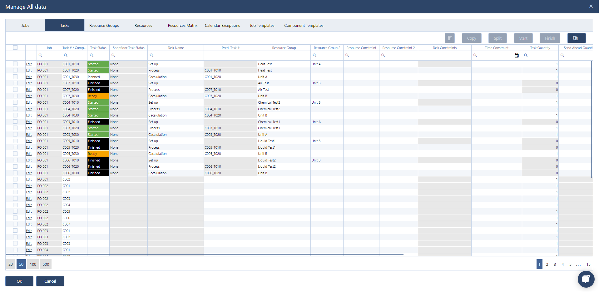 new update dialog in just plan it - production scheduling software for HMLV manufacturer