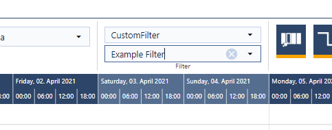 activate custom filter in just plan it - production scheduling software for HMLV manufacturer