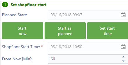 Execute Mode: Set Shopfloor Start