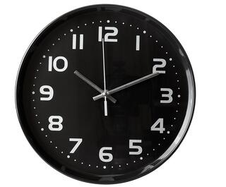 close up of an office clock on white background with clipping path.jpeg