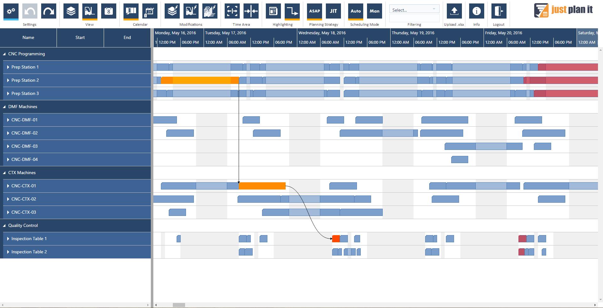 machine shop scheduling software