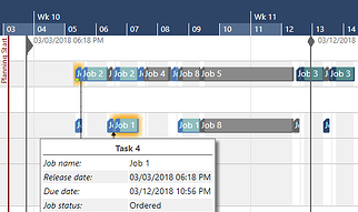 vertical line for release and due date in the resource view