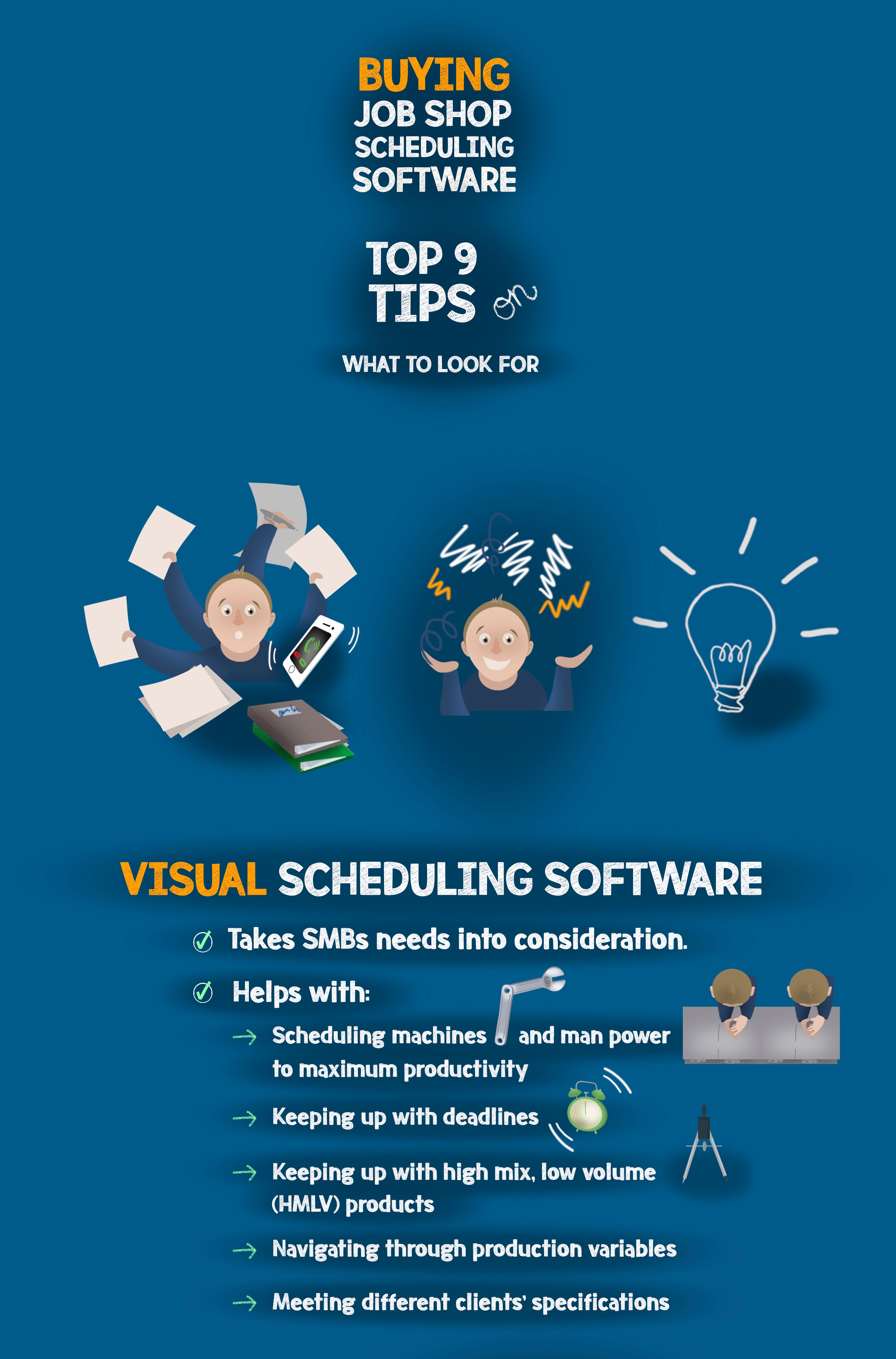 Infographic: Top 9 tips on buying job shop scheduling software