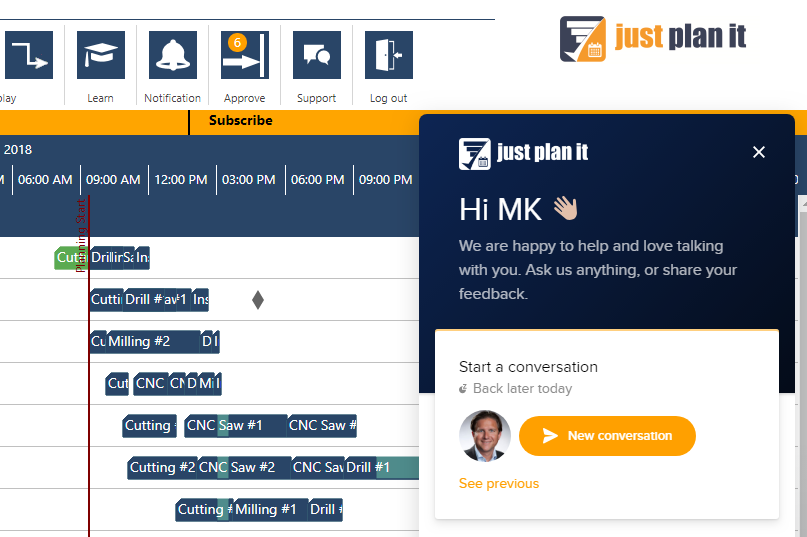 Enhancements of our job shop scheduling software