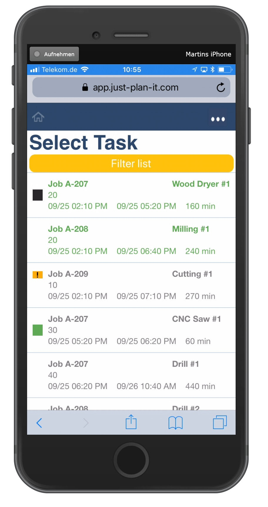 Product update: operator client and refined impact of job status